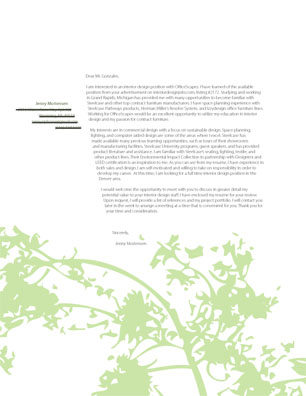 Cover Letter Examples Design  Cover Letter Examples - Cover letter graphic designer